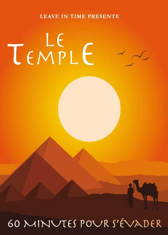 Pyramides au soleil couchant dans le désert égyptien