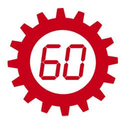 Engrenage contenant le chiffre 60