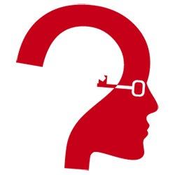 point d'interrogation formé d'un visa ave une clé représentant des lunettes