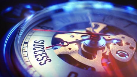 Montre indiquant le temps des succès de sortie