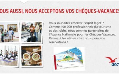 NOUVEAUTÉ : LEAVE IN TIME NANTES ACCEPTE DÉSORMAIS LES CHÈQUES VACANCES !!